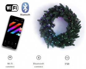 Wreaths lightswith LED - 50pcs RGB + W - Twinkly Wreath + BT + WiFi