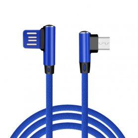 Роз'єм кабелю USB типу C з дизайном 90 ° і довжиною 1 м у трикотажному дизайні