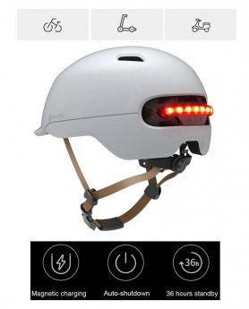 Smart bicycle helmet - automatic LED light + brake light
