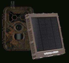 Solcellepanel (oplader) til fotofælder og kameraer + Li-ion 8000mAh + 6/9 / 12V output