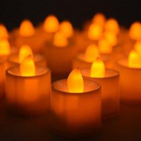 Flameless candles LED with pulsation - orange