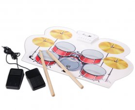 Electric drum set - silicone pad set with 9 drums