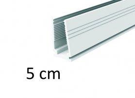 5 cm - Plastová montážna vodiaca lišta pre svetelné LED pásy