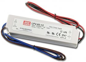 Power supply source for LED strip - 60W DC12V