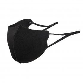 Mascarilla de protección para niños elástica negra con cintas regulables