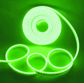 Logotipo luminoso a través de una tira de neón flexible de 5M con protección IP68 - Color verde