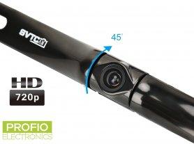 Камера за заден ход HD 1280x720 + 175 ° ъгъл на задната регистрационна табела + защита (IP68)