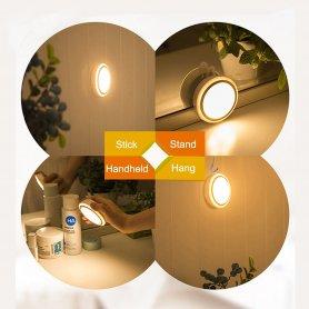 Lumină rotundă LED cu baterie Li-on + senzor de mișcare