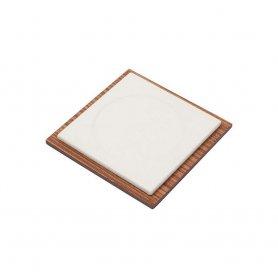 Skórzana podkładka na biurko - Luxury SET 11 szt na podkład na biurko (brązowe drewno + skóra)
