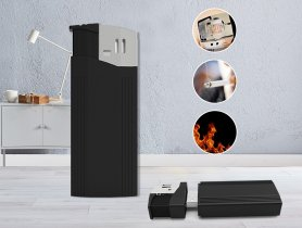 Kamera v zapalovači FULL HD + WiFi + P2P + detekce pohybu + LED světlo
