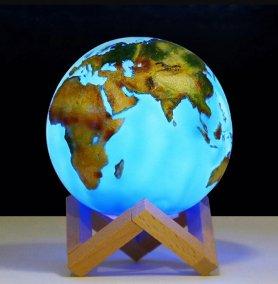 Globe 3D touch LAMP - világítson földi USB -gömbön