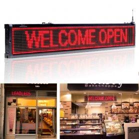 Display LED per negozi - Rosso, con WiFi - iOS / Android - larghezza 101 cm