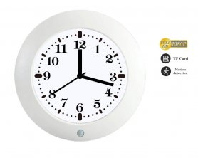 Spy clock with FULL HD camera and PIR sensor for motion detection