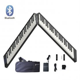 Foldable keyboard (piano) portable folding 130cm + 88 keys + BT + Li-ion + Stereo speakers