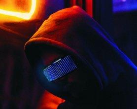 LED sunčane naočale RAVE programabilni FULL LED zaslon putem pametnog telefona (Bluetooth)