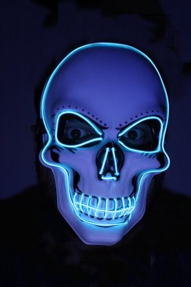 LED face mask - Skull blue