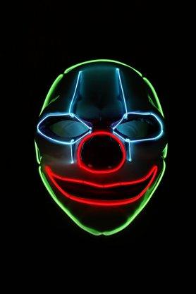 Máscara de payaso asustadiza con LED - Joker