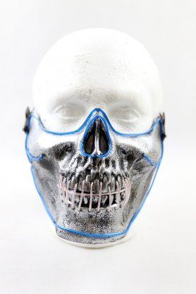 LED flashing rave mask on the face - Skull