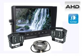 "Parkovacie kamery do auta set - AHD LCD monitor 7"" + 2x kamera s 18 IR LED"