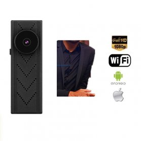 Button camera Full HD cu WiFi și suport 128 GB micro SD