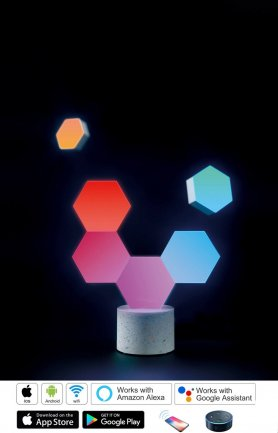 Hexagon light 6pcs - WiFi Smart LED illumina iOS + Android