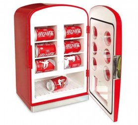 Retro refrigerators with chrome accessories - 22L/12 cans