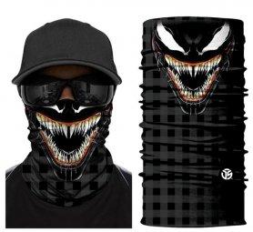 Bandana VENOM - cagoule effrayante sur le visage ou la tête