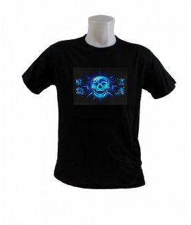 T-shirt à LED clignotant - Crâne