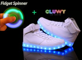 Chaussures LED - Sneakers blanc