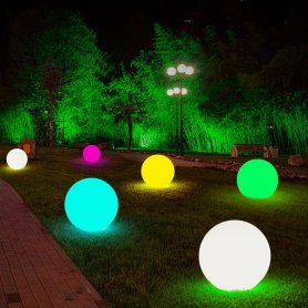 Garden globes - Solar LED lamp 40cm - 8 colors + Li-ion battery + solar panel + IP44 protection