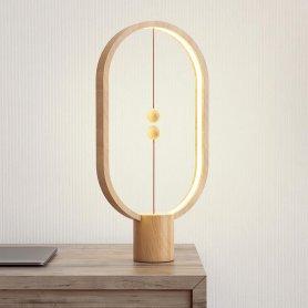 Mágneses asztali lámpa LED (lebegő golyók) + LIGHT WOOD dekoráció