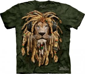 Motif animal 3D - Lion jamaïcain