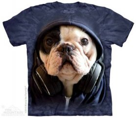 3D hi-tech shirt - Manny with headphones