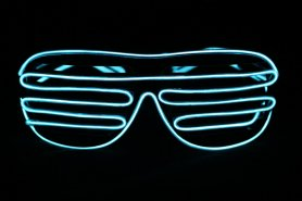 Glasses with light - Blue