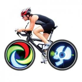 """Стилно LED осветление за велосипед (24 """"/ 26"""") - Fantasma OWL"""