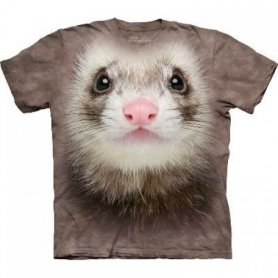 Tier Gesicht t-shirt - Ferret