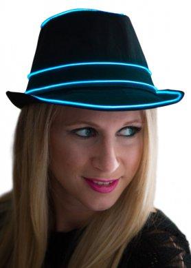 Neonový klobouk - modrý