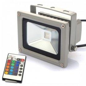 Riflettore 10W LED RGB con telecomando