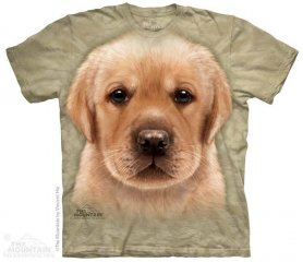 3D hallo-Tech-shirt - Yellow Labrador Welpen