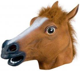 Costum din plastic cu mască pentru cap de cal (Halloween, sărbători)