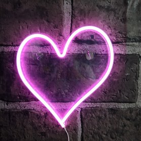 Neon sign - led light up logo Heart