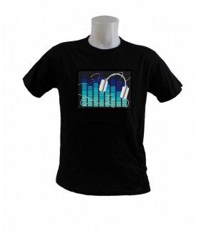 T-shirt clignotant - Égaliseur bleu