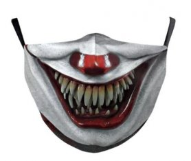 IT Clown face mask - 100% polyester