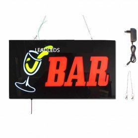 Panneau de signalisation publicitaire à LED BAR - 43 cm x 23 cm