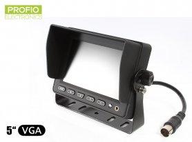"""5"""" LCD monitor s možnosťou pripojiť 3 cúvacie kamery"""