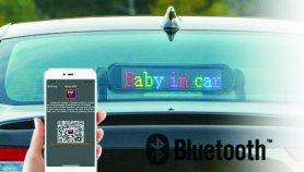 Barevný Bluetooth LED světelný panel do auta programovatelný přes Smartphone - 42 cm x 8,5 cm