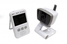 Baby monitor con fotocamera e LCD + LED IR e comunicazione a due vie