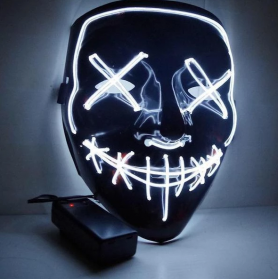 Halloween LED Mask Flashing - Purge (White)
