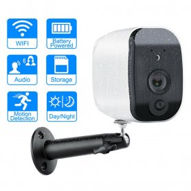 Security IP HD camera with extra long battery life + WiFi + IR LED