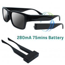 Spy glasses with FULL HD camera and remote control + 16GB memory